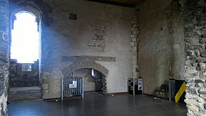 Guildford Castle - The great hall on the first floor of the keep