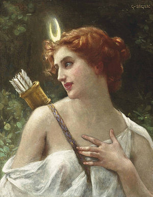 Dianism - 19th-century painting of the Roman goddess Diana by Guillaume Seignac