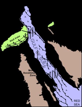 Gulf of Suez Rift - Structural map of the Gulf of Suez rift