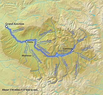 Gunnison River - Image: Gunnisonrivermap