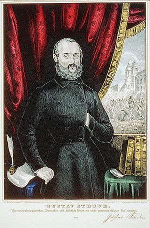 History of vegetarianism - Gustav Struve, German revolutionary and a leading figure in the initial stage of the German vegetarian movement.