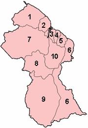 Regions of Guyana