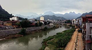 Hà Giang City in Vietnam
