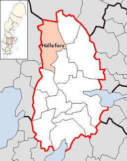 Hällefors Municipality in Örebro County.png