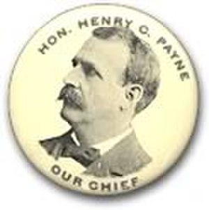 Henry Clay Payne - H.C. Payne button