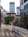 HK Tram tour view Causeway Bay 怡和街 Yee Wo Street August 2018 SSG 13 St Paul's Hospital.jpg