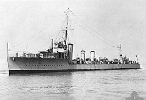 Parker-class flotilla leader - HMAS Anzac