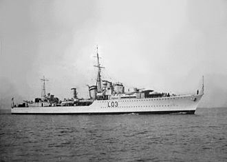 Philip Vian - Image: HMS Cossack