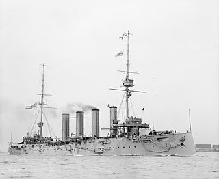 Drake-class armored cruiser of the Royal Navy