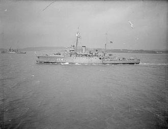 HMS Hebe (J24) - Image: HMS Hebe 1940 IWM A 1434