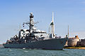 HMS Iron Duke Leaving Portsmouth MOD 45158579.jpg