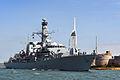 HMS Iron Duke Leaving Portsmouth MOD 45158579.jpg