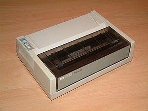 HP Deskjet - HP's first inkjet printer is the ThinkJet.