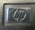 HP logo on front of HP-28S calculator (24467495100).jpg
