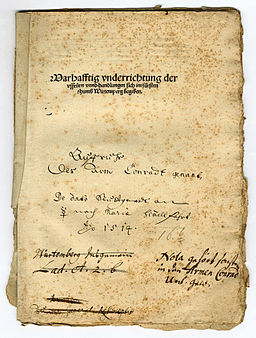 HStA A 45 Bü 9 Titel Bericht Armer Konrad
