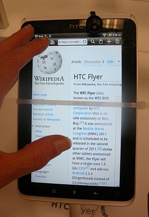 HTC Flyer - In use