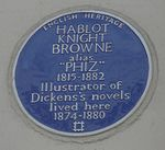 Hablot Knight Browne blue plaque.jpg