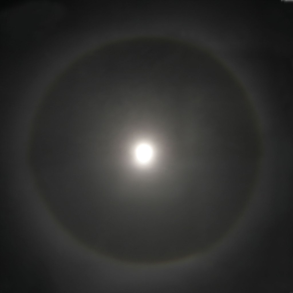 Halo around moon
