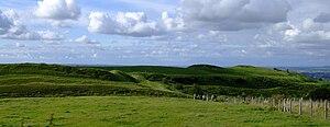 Hambledon Hill - On Hambledon hill, looking north