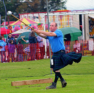Hammer throw - The traditional Highland games version of event