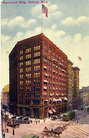 Hammond Building - Postcard of the Hammond Building, c. 1915
