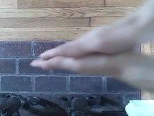 Hand rubbing.