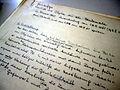 Handschriftliche Notizen von Karl Bernert, Einschätzung von sogar auf der Welt einmaligen Objekten mit Kulturdenkmalstatus im Kreis Löbau, Sachsen, Deutschland, Europa.JPG