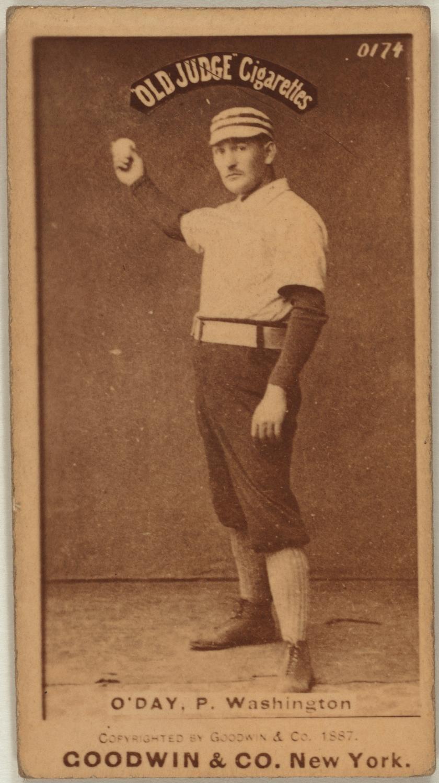 Hank ODay baseball card