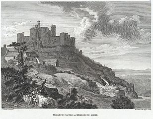 Harlech Castle in Merioneth-Shire