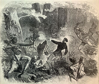 Battle of Stony Lake - An artist's depiction of the death of Lt. Beaver after the Battle of Stony Lake.