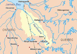 Breynat River watercourse in Canada