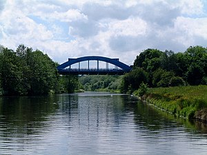 A556 road - Hartford Bridge (or Blue Bridge) as the A556 crosses the Weaver Navigation.