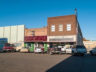 Harvey, North Dakota - Business district of Harvey