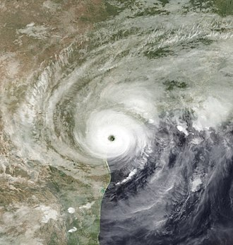 Hurricane Harvey - Satellite picture of Harvey making landfall in Texas on August 26