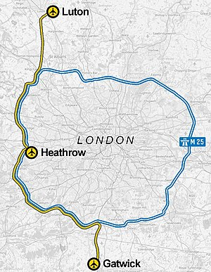 Heathwick - Map of the approximate rail route
