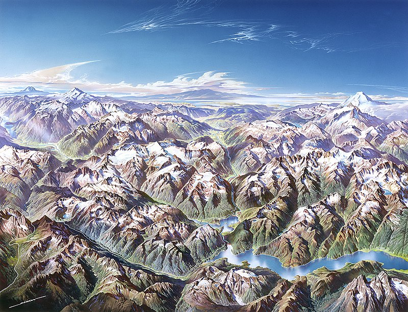 Painting of North Cascades Natu0027l Park by