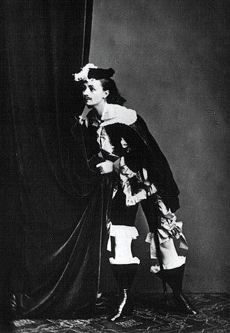 Helena Modjeska - Modrzejewska as Adam Kazanowski in The Court of Prince Władysław, 1867