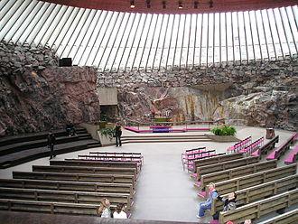 Monolithic church - Temppeliaukio Church in Helsinki