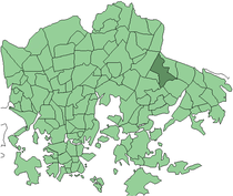 Position of Kontula within Helsinki