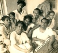 Hemango with Debabrata Biswas, Omar Sheikh, Niranjan Sen and others. Pic courtesy Hemango Biswas's family.tif