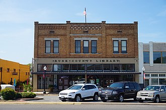 Rusk County, Texas - Rusk County Library in downtown Henderson