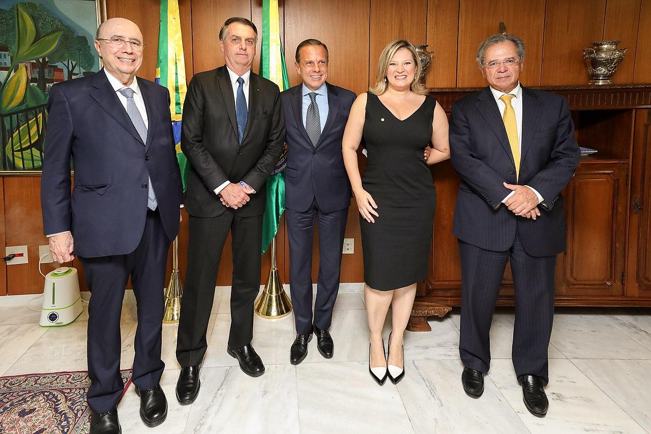 File:Henrique Meirelles, Jair Bolsonaro, João Dória Júnior, Joice  Hasselmann e Paulo Guedes.jpg - Wikimedia Commons