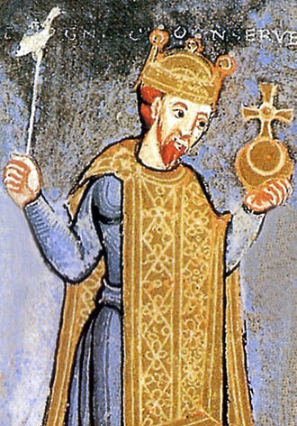 Wipo of Burgundy - Wipo wrote Tetralogus Heinrici, a eulogy of Emperor Henry III (depicted)