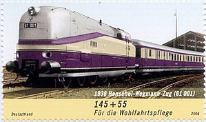 Henschel-Wegmann Train - Charity stamp of the Henschel-Wegmann Train
