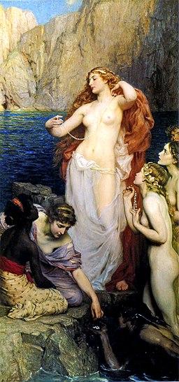 Herbert James Draper, The Pearls of Aphrodite, 1907