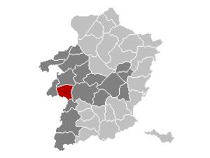 Herk-de-Stad - Image: Herk de Stad Limburg Belgium Map