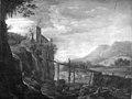 Herman Saftleven - Ruin of a Castle on a Rock - KMSsp423 - Statens Museum for Kunst.jpg