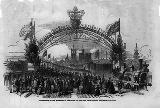 Hawks family - The inauguration of the High Level Bridge by HM Queen Victoria on 28 September 1849