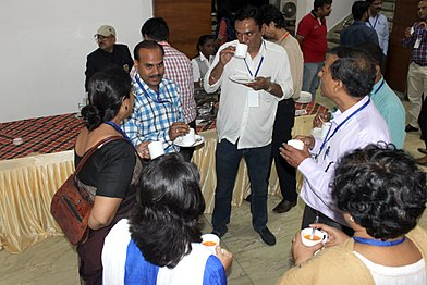 Hindi Community Salon for Wikimedia Strategy-Discussions during Lunch (5).jpg