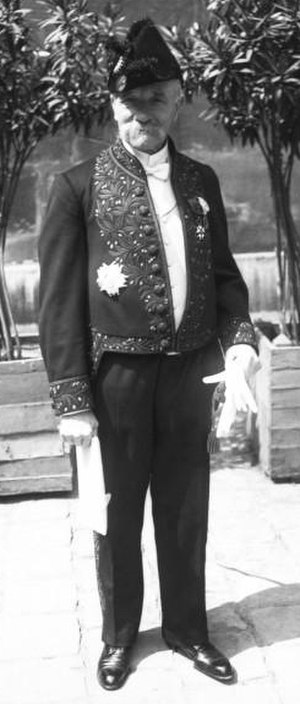 Hippolyte Langlois - Hippolyte Langlois on the day of his reception at the Académie française in 1911
